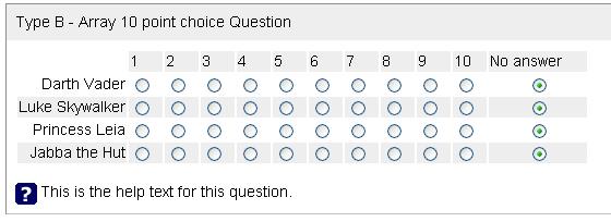 Umfrage Auswahl