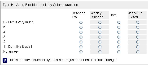 flexible Umfrage